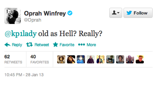 If You Call Oprah 'Old' on Twitter, She Will Hunt You Down