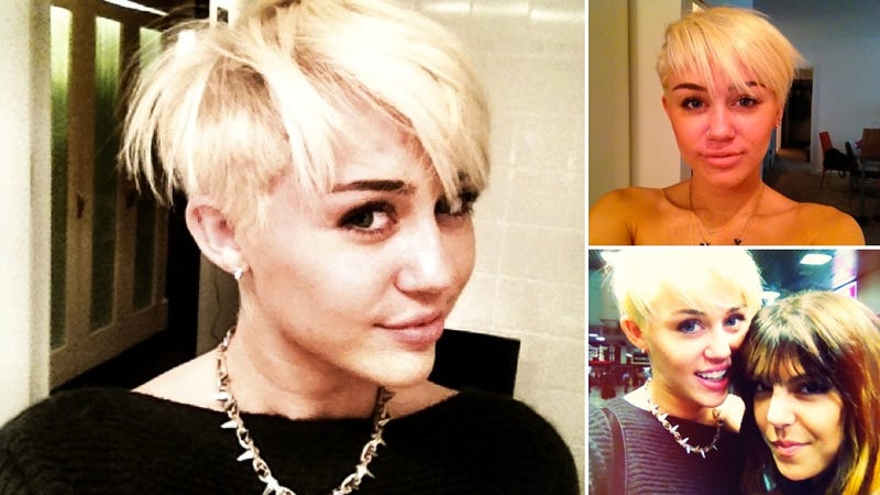 Miley Cyrus Chopped Off All Her Hair Yesterday
