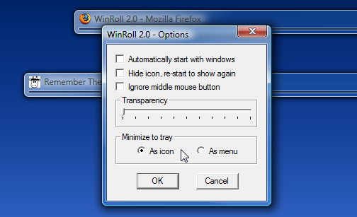 WinRoll Folds Windows Into Their Title Bars