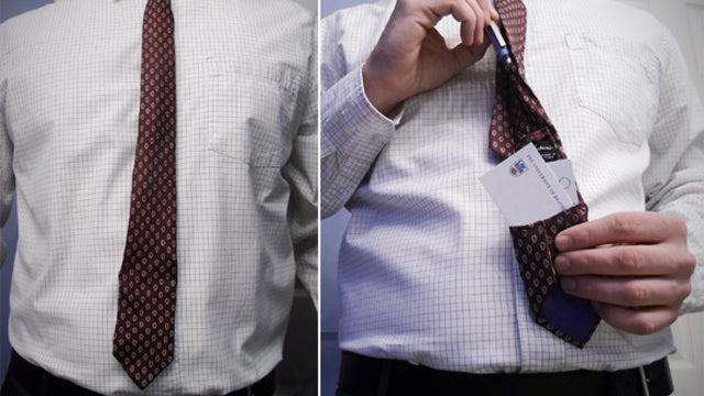 Add a Pocket to the Back of Your Tie to Hold Cash or Cards