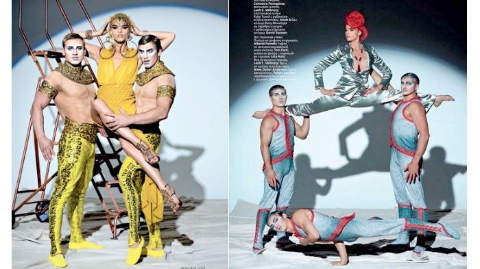 Crystal Renn Does The Splits In A New Cirque Du Soleil Editorial