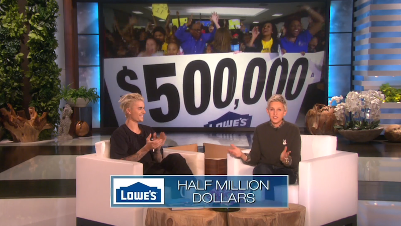 Ellen, Bieber raise money for Detroit school