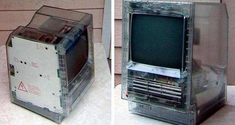 Transparent Mac SE/20 vs iMac Graphite
