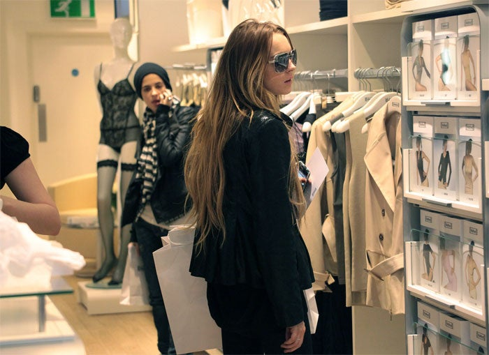 Lindsay Lohan Weighs The Wolford Options