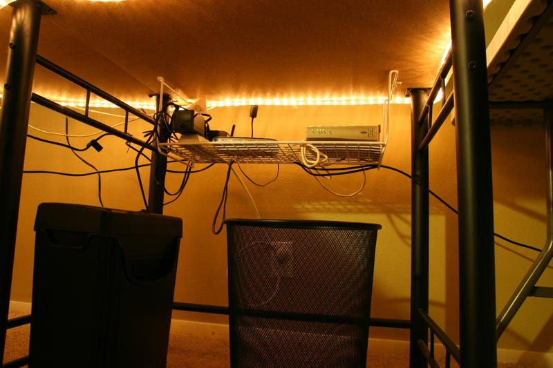New Lights and Hanging Routers: A Simple Office Makeover