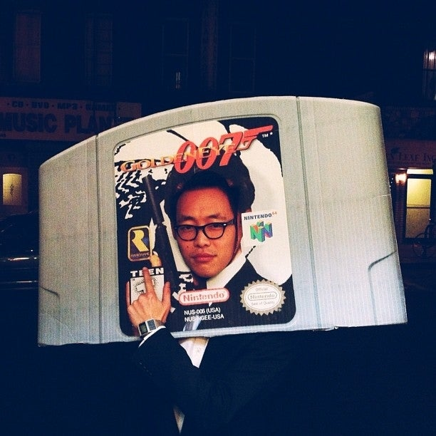 Why dress up as James Bond when you can be the GoldenEye game cartridge?