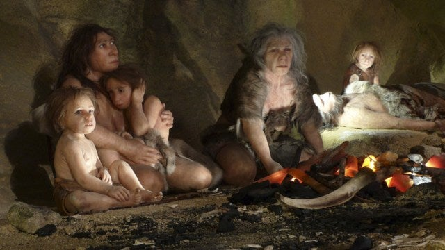 Neanderthals might have believed in the spiritual world before Homo sapiens did