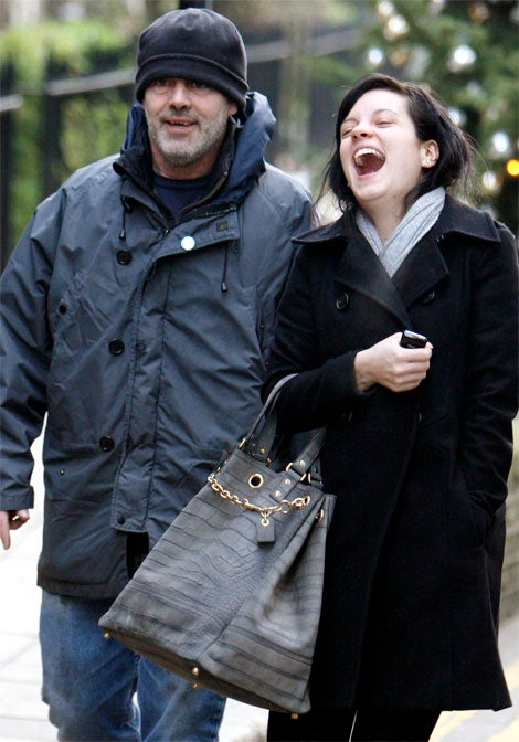 Lily Allen, Dad Happy For Holidays
