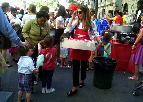 Nina Garcia Handed Out Popcorn Today