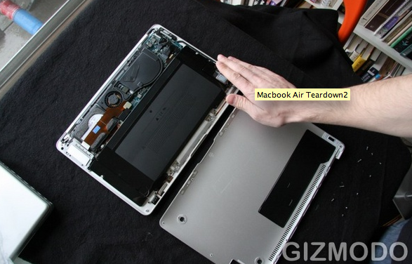 Repost: The Very Attractive Macbook Air Innards
