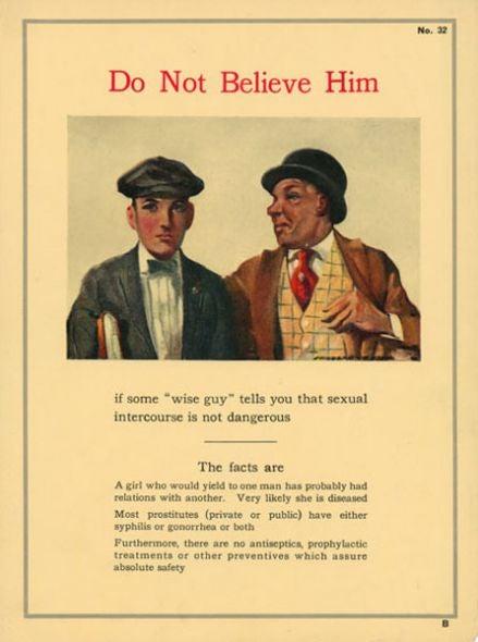 Anti-STD propaganda posters kept our boys' flagpoles clean