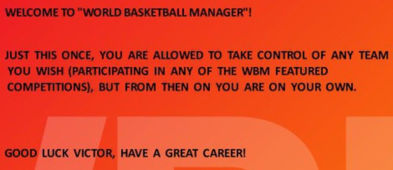 Blind Run: World Basketball Manager 2010