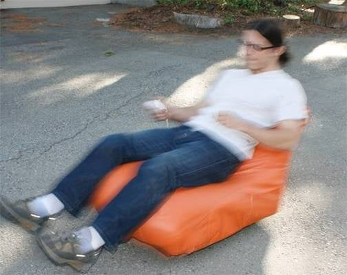 Wii Nunchuck-Controlled Beanbag Chair Makes Nacho Retrieval Easier