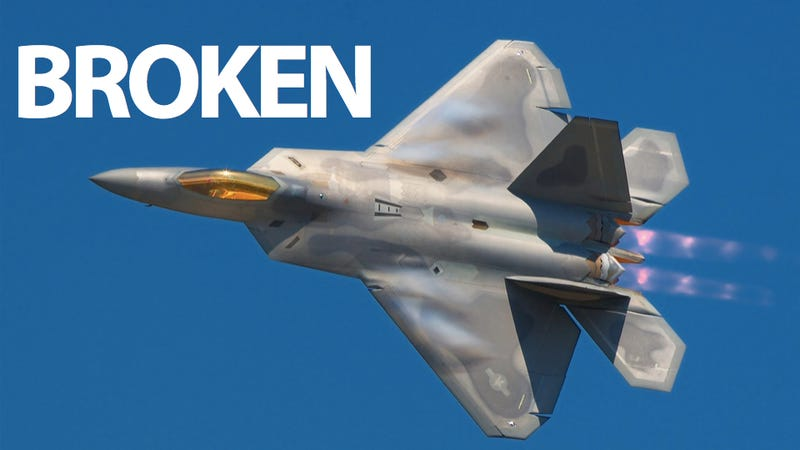 As If It Wasn't Broken Enough, A F-22 Raptor Crashed in Florida Today