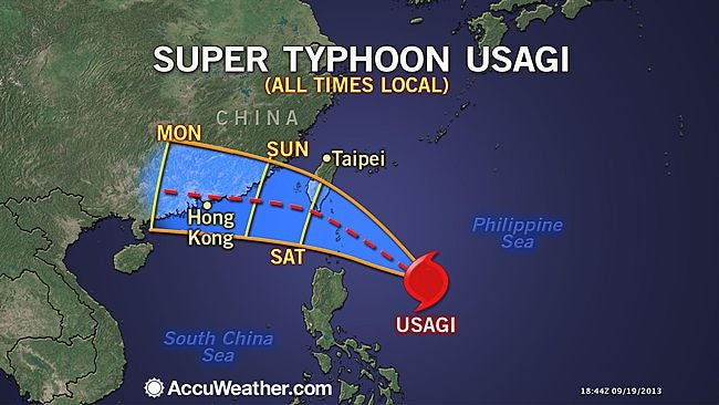 A 'super typhoon' is about to smash into East Asia