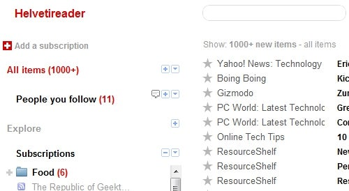 Helvetireader 2 Strips Down and Simplifies Google Reader