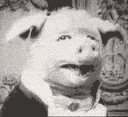 This freaky vampire pig is credited as the first meme of the 20th Century