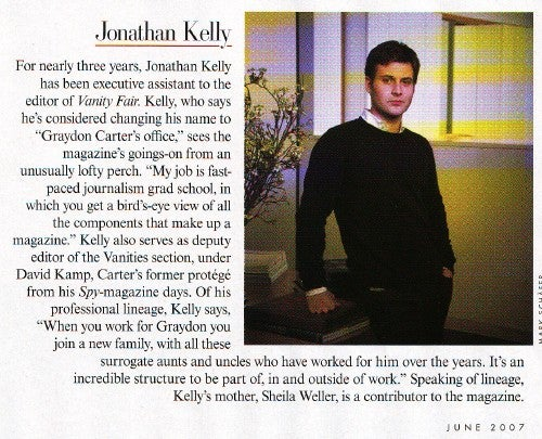 "Meet Jonathan Kelly, ""Graydon Carter's Office"""
