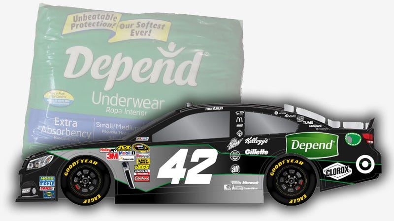 NASCAR Driver Will Be Sponsored By Adult Diapers This Weekend