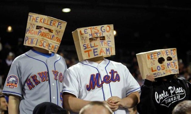 So It's Come To This: Mets Fans Wearing Paper Bags