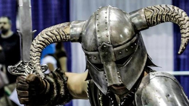 Dude Makes A Wicked Skyrim Helmet From Real Steel