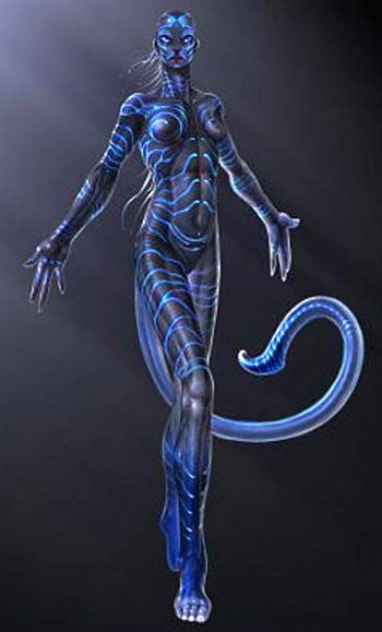 Leaked Avatar Concept Art Shows Blue Supermodel