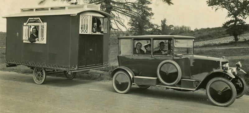 Look How Fancy Car Camping Was In The 1920's