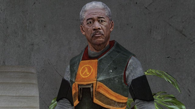 Morgan Freeman. In Grand Theft Auto IV. Dressed As Gordon Freeman.