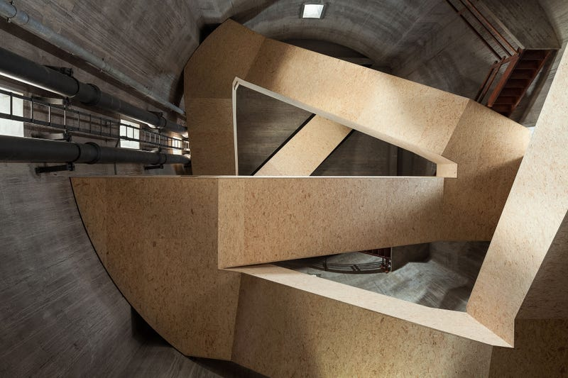 A Cool Staircase Turned This Abandoned Tower Into a Nature Observatory