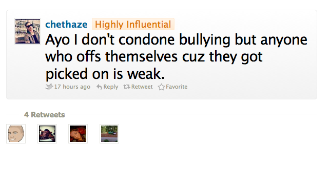 Ayo Chet Haze Isn't Down With Weak Kids Who Kill Themselves