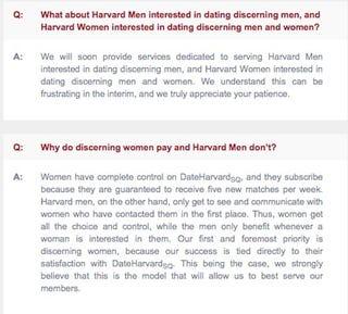 Harvard dating site
