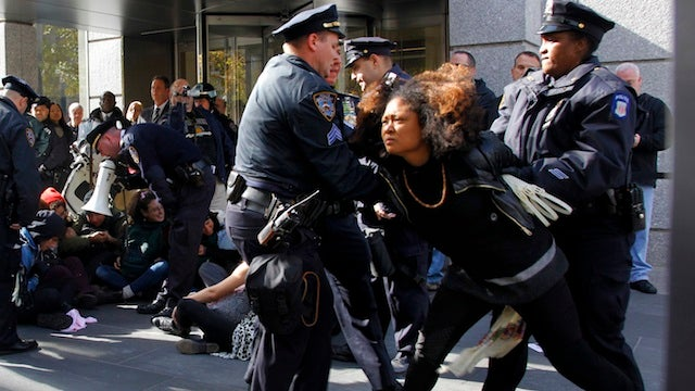 Occupy Wall Street Protesters Arrested at Another Goddamn Bank