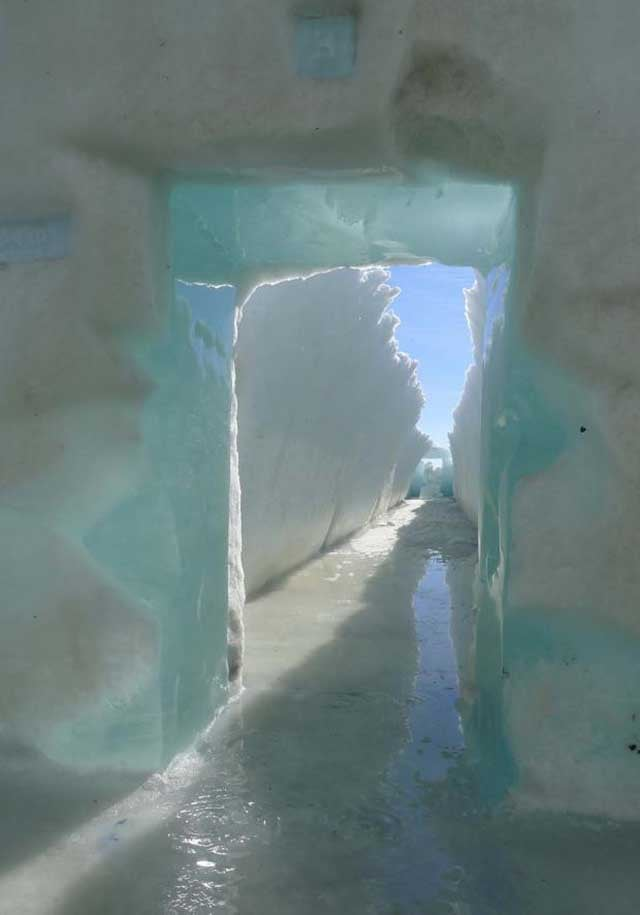 Incredible Photos of a Melting Ice Hotel