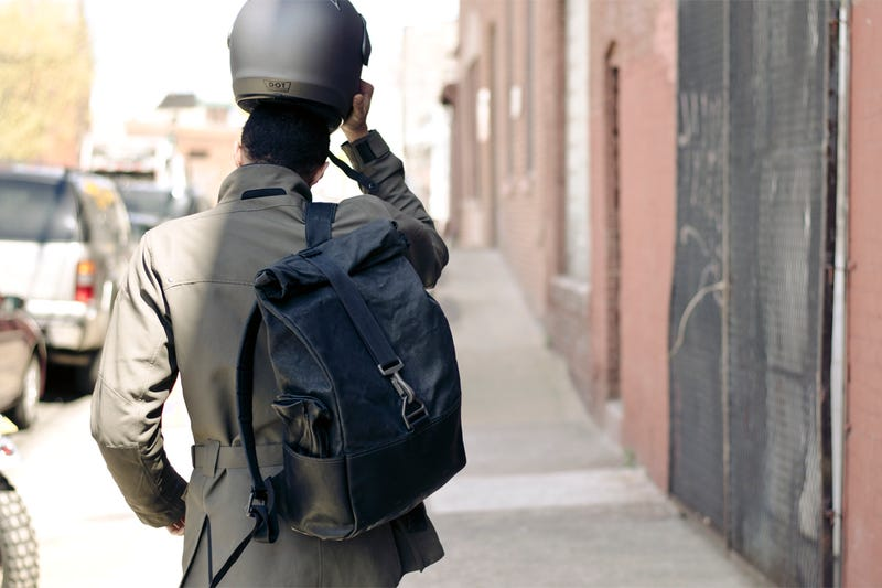 A Totally Badass Backpack Made of Salvaged Bike Boots
