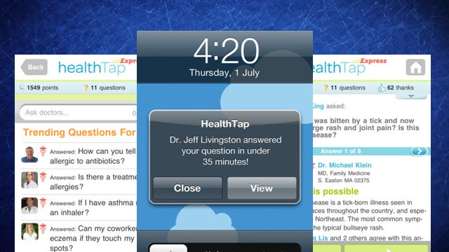 HealthTap Express Puts a Doctor on Your Smartphone, Ready to Answer Questions