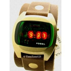 Fossil's 1970s Styled LED Watch