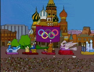 Guess what, The Simpsons already did the Sochi Olympics, too