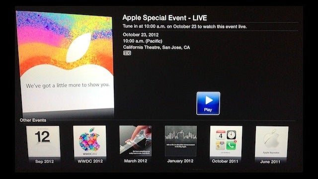 Today's Apple Event Will Be Streamed Live to Apple TVs All iOS Devices and Safari (Updated)
