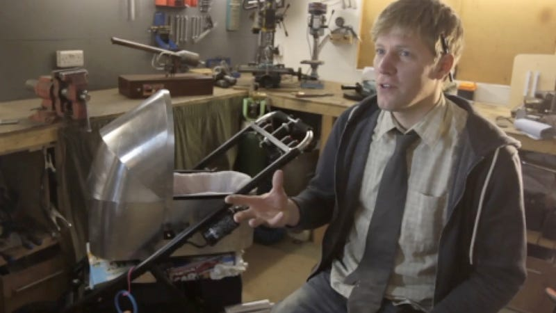 Adorable Daredevil Father Has Constructed the World's Fastest Stroller Out of Sheet Metal and Love