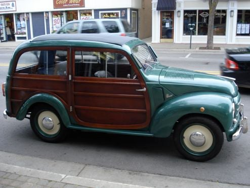 Fiat 500C Woody Wagon Shows Off Up North