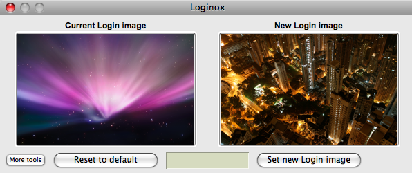 Loginox Changes the OS X Login Background Image
