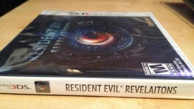 Capcom Says Resident Evil: Revelations Spelling Error Was 'Embarrassing'