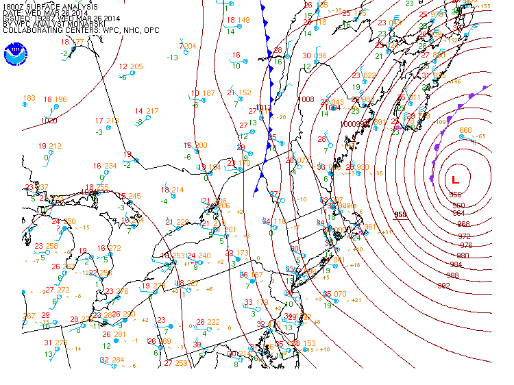 Buoy off the Coast of Maine Records 118 MPH Wind Gust in Nor'easter
