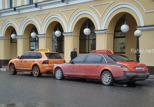 Russians Demand Maybach Taxi Cabs, Porsche Cayennes Too