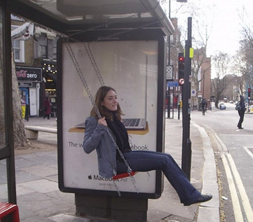 Bus Stop Swing Set: A Public Transportation Playground