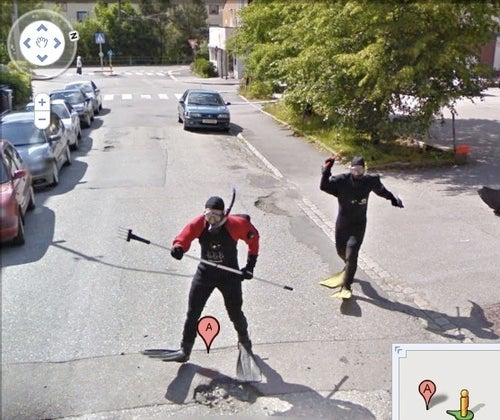 Norwegians with Pitchforks Attack Google Street View