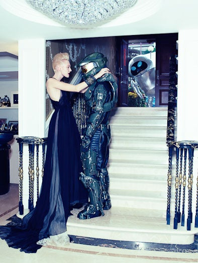 Master Chief's Uncomfortable Day on a High Fashion Photo Shoot