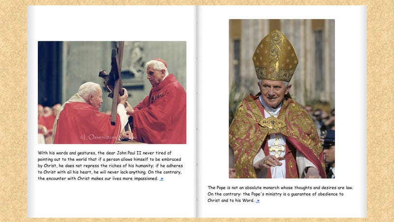The Pope Deserved a Better Leaving Gift Than This Comic Sans Photo Album