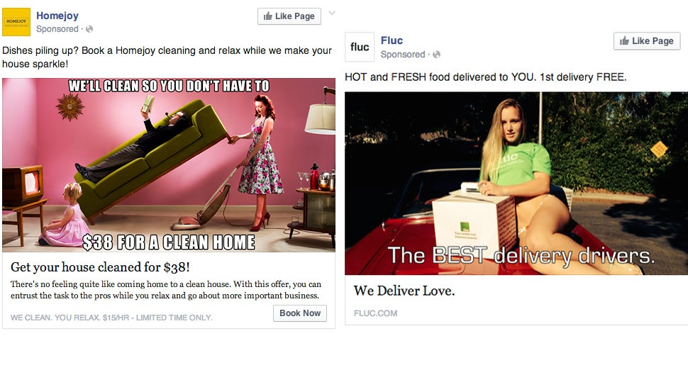 Today In Sexist Startup Advertisements on Facebook