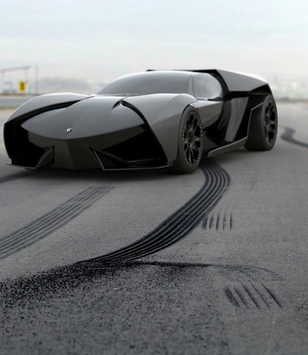 Lamborghini Ankonian Concept: Reventon Meets Batmobile